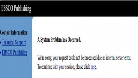 A system problem has occurred